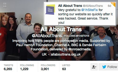 onehoursitefix fixed hacked website for allabouttrans
